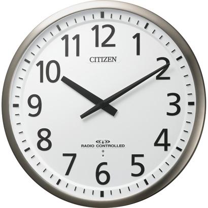 CITIZEN シチズン リズム時計 クロック 電波掛け時計 高感度電波受信 スリーウェイブM839 4MY839-019