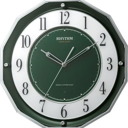 RHYTHM リズム時計 クロック 電波掛け時計 高感度電波受信 スリーウェイブM846 4MY846SR05
