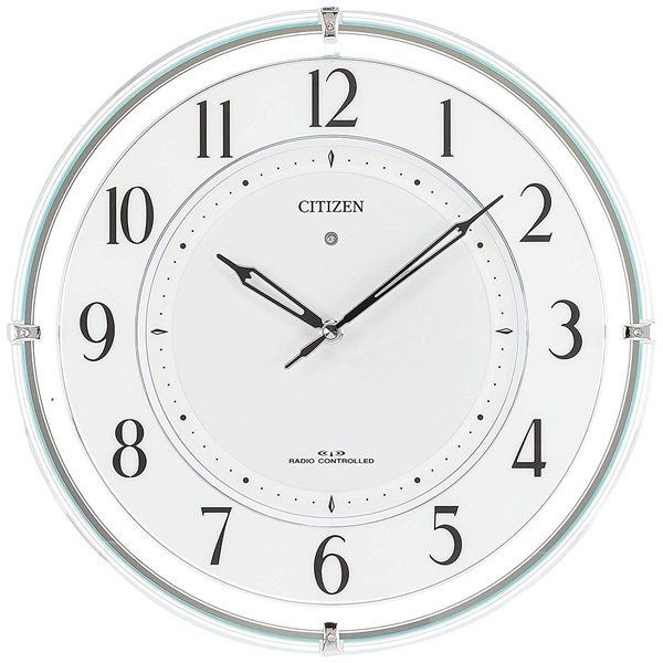 CITIZEN シチズン リズム時計 クロック 電波掛け時計 ソーラー電源 秒針なし 4MY851-005