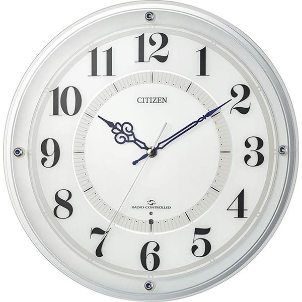 CITIZEN シチズン リズム時計 クロック 電波掛け時計 広範囲受信 サイレントステップ秒針 4MY859-003