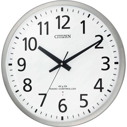 CITIZEN シチズン リズム時計 クロック 電波掛け時計 スペイシーM463 8MY463-019