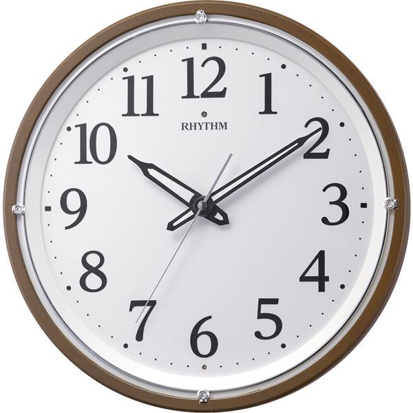 RHYTHM リズム時計 クロック 電波掛け時計 夜間自動点灯ライト付 8MY532SR06