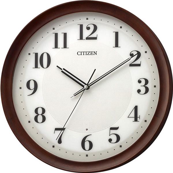 CITIZEN シチズン リズム時計 クロック 電波掛け時計 連続秒針 シンプル 高級感 重厚感 8MY554-006