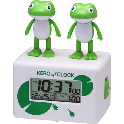 KERO CLOCK face white frogs wake me up! ケロクロック 2 rhythm clock with calendar alarm clock clock 8RDA46RH03