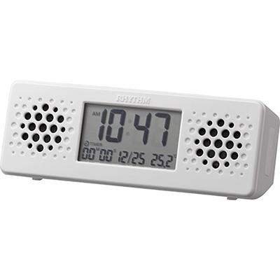 RHYTHM リズム時計 クロック 防水スピーカー ラジオ付 Bluetooth アクアプルーフ ミュージック 8RDA73RH03