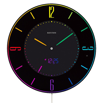 RHYTHM リズム時計 クロック Iroria A 電波置き時計 掛け置き兼用時計 AC電源式 8RZ197SR02