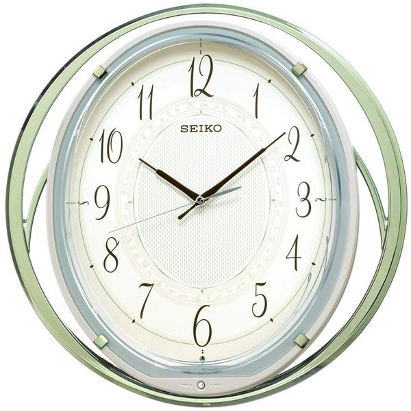 SEIKO セイコー クロック 電波振り子時計 メロディ付 おやすみ秒針 AM262M