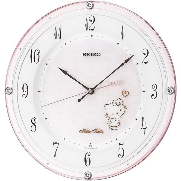 SEIKO セイコー クロック 電波掛け時計 ハローキティ ハイラインシリーズ スワロフスキー CS501P