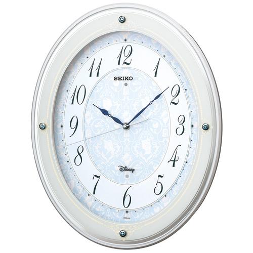 SEIKO セイコー クロック 大人ディズニー ディズニープリンセス 電波掛け時計 FS502W