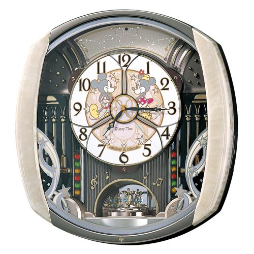 SEIKO セイコー クロック キャラクタークロック ディズニー ミッキー&フレンズ からくり・メロディ 電波掛け時計 FW563A
