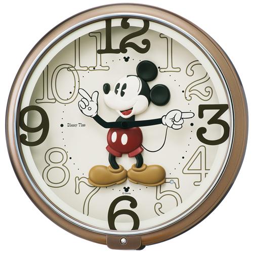 SEIKO セイコー クロック キャラクタークロック ディズニー ミッキー&フレンズ からくり・メロディ クオーツ掛け時計 FW576B