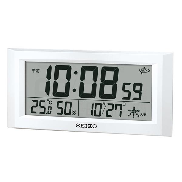 SEIKO セイコー クロック オフィスタイプ 衛星電波クロック 掛け置き兼用時計 液晶表示 GP502W