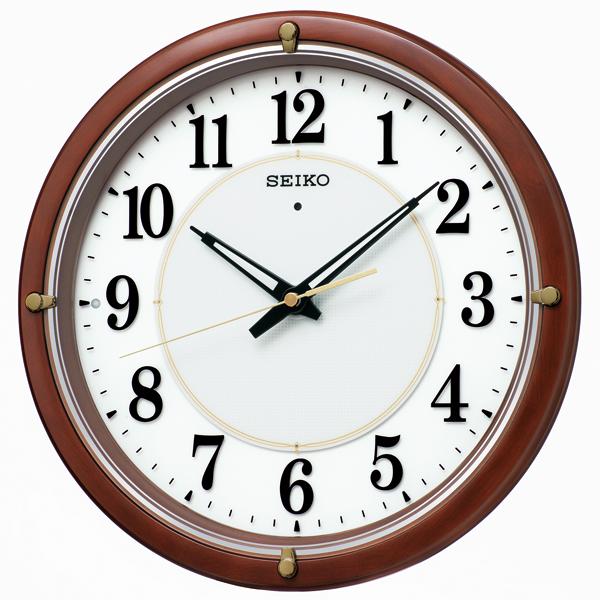 SEIKO セイコー クロック オフィスタイプ 電波クロック 木枠 掛け時計 KX240B