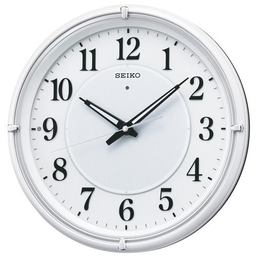 SEIKO セイコー クロック ファインライト NEO 夜間自動針点灯 電波掛け時計 KX393W
