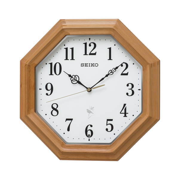 SEIKO セイコー クロック ナチュラルスタイル 13種類の野鳥報時 電波掛け時計 RX216B