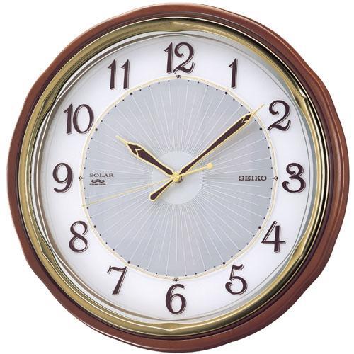 SEIKO セイコー クロック ソーラープラス 電波掛け時計 SF221B