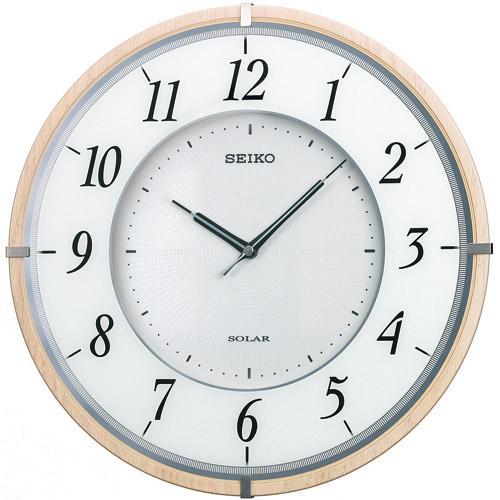 SEIKO セイコー クロック ソーラープラス 薄型タイプ 電波掛け時計 SF501B