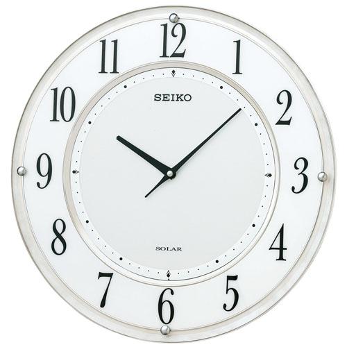 SEIKO セイコー クロック ソーラープラス 薄型タイプ 電波掛け時計 SF506W