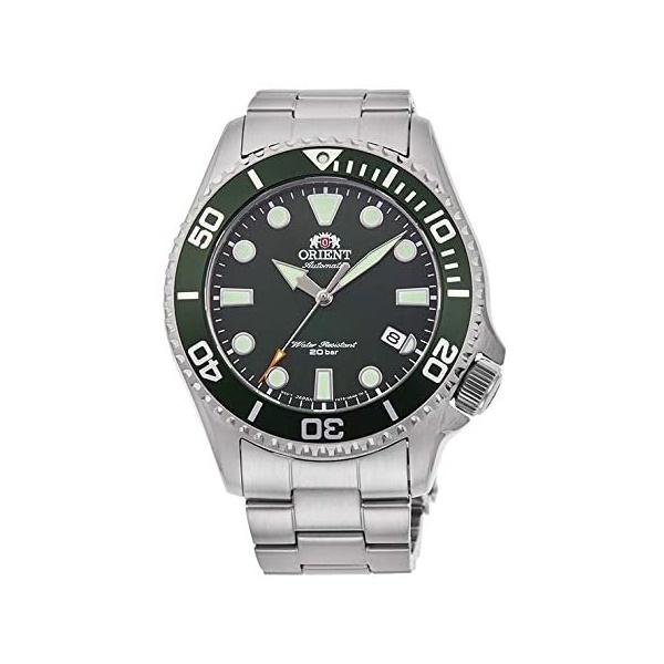 ORIENT オリエント 機械式 自動巻 ステンレス スポーツ グリーン 日本製 メンズ腕時計 RN-AC0K02E