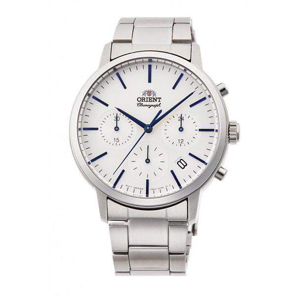 直営限定アウトレット 商舗 サイズ調整無料 ORIENT オリエント コンテンポラリー 5気圧防水 クロノグラフ RN-KV0302S メンズ腕時計