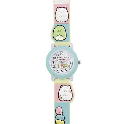 代引 日時指定不可 無料サイズ調整対象外商品 キュートなファッション腕時計 サンリオ SX-V07-SG 驚きの価格が実現 すみっコぐらし キャラクターズ3Dベルトウォッチ サンエックス 在庫処分