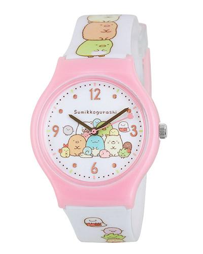 代引 日時指定不可 無料サイズ調整対象外商品 安売り J-AXIS キャラクターウォッチ サンエックス すみっコぐらし ピンク SX-V10-SGPI ジュニアベルトサイズ キッズ腕時計 期間限定で特別価格