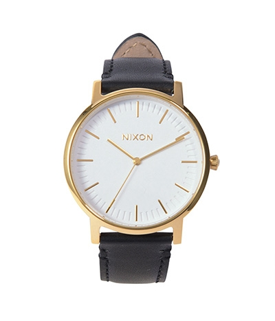 NIXON PORTER LEATHER ニクソン ポーターレザー GOLD/BLACK JP 日本限定カラー ユニセックス腕時計 NA10582523-00