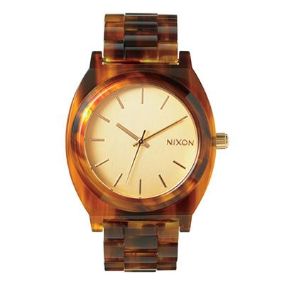 NIXON TIME TELLER ACETATE ニクソン タイムテラー アセテート GOLD/MOLASSES ユニセックス腕時計 NA3271424-00