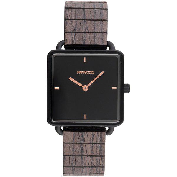 WEWOOD ウィーウッド 天然木 ダークブラウン 文字盤黒 レディース腕時計 9818205