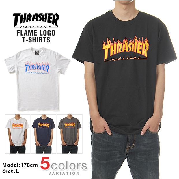 biggwillie  THRASHER-Thrasher T shirt mens large size FLAME (4 colors)  678da8e63