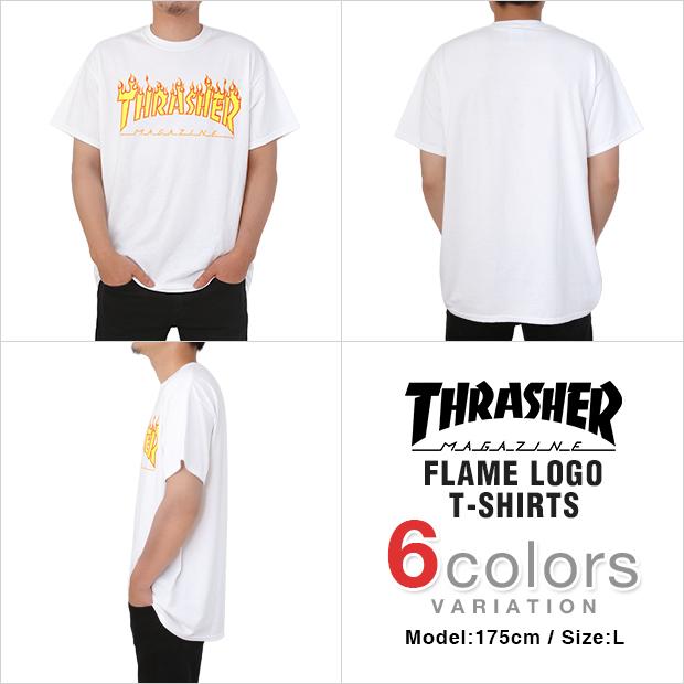 dcd4193da15c スラッシャー Tシャツ THRASHER フレイムロゴ 日本規格 T-SHIRTS メンズ 大きいサイズ thrasher FLAME