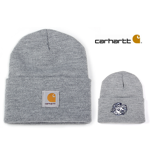 36350611733 CARHARTT Carhartt caps knitting Hat Beanie Hat TARHEELS BEANIE men women  (grey)