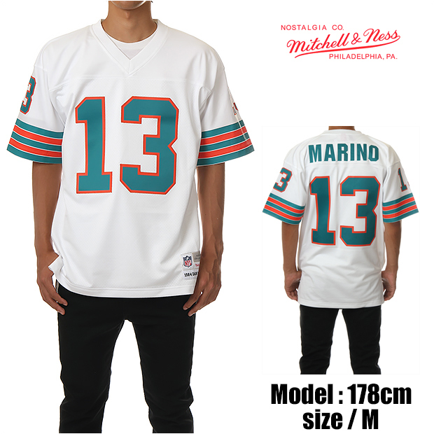 save off 6f680 0c476 MITCHELL &NESS Mitchell & Ness game shirt JERSEY football shirt football  ball Jerzy MIAMI DOLPHINS Miami Dolphins great size (white)