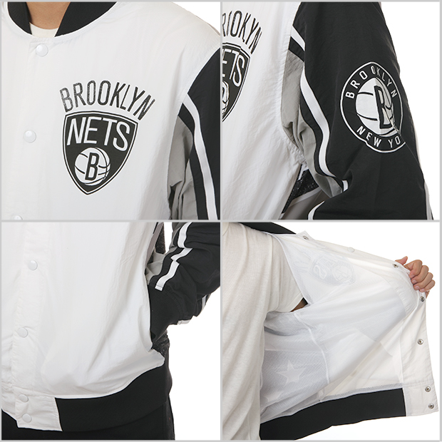 size 40 92a80 72e98 Mitchel &ness Brooklyn Nets stadium jacket MITCHELL&NESS BROOKLYN NETS  jacket WARM UP JACKET men's big size
