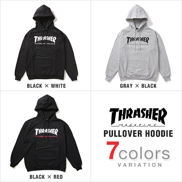 e5c535068bb1 THRASHER slasher Hoodie pullover Parker sweatshirts men s large size SKATE  MAG (black)