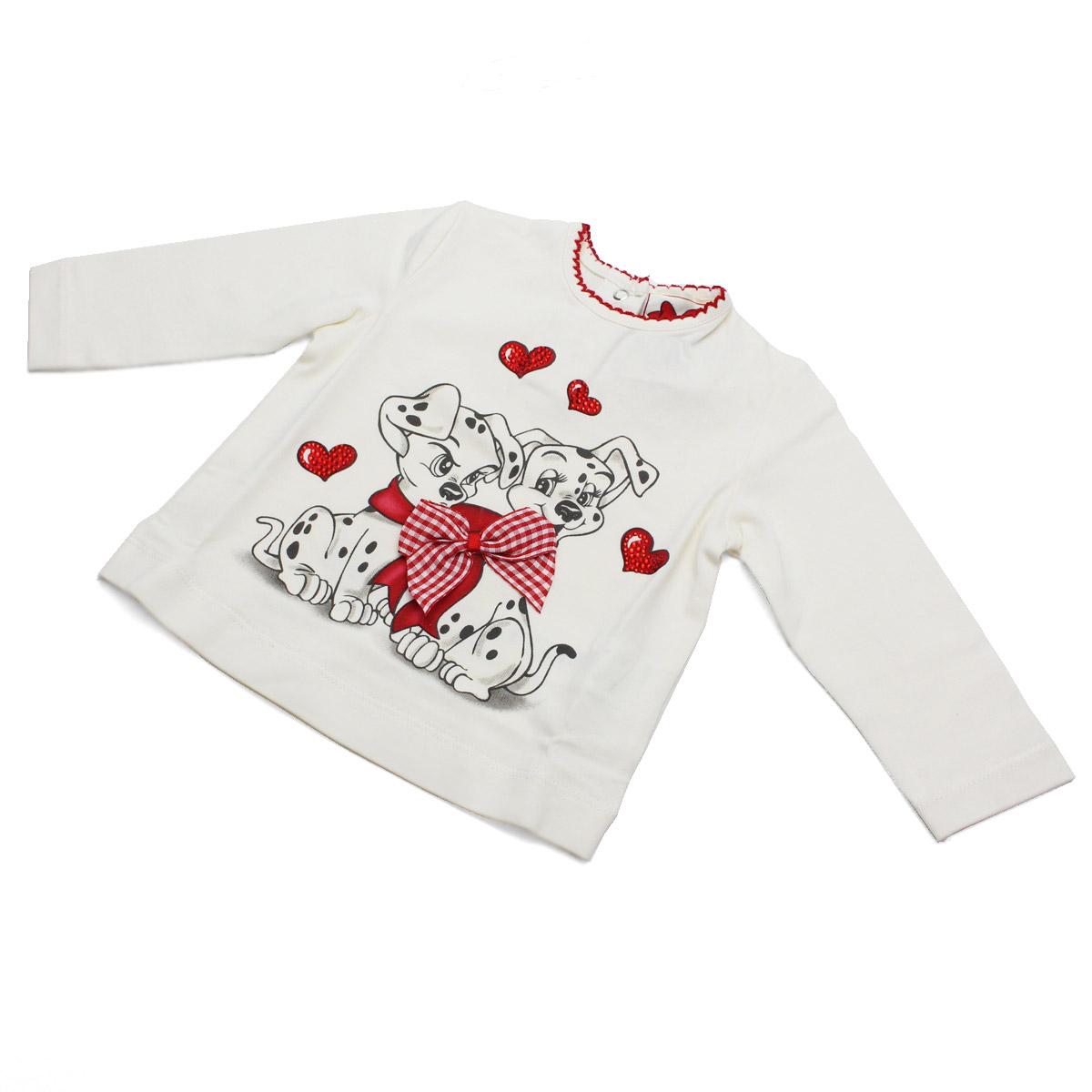 모나리자(MONNALISA) 베이비 T셔츠 638603 SK 8000 0001 화이트계