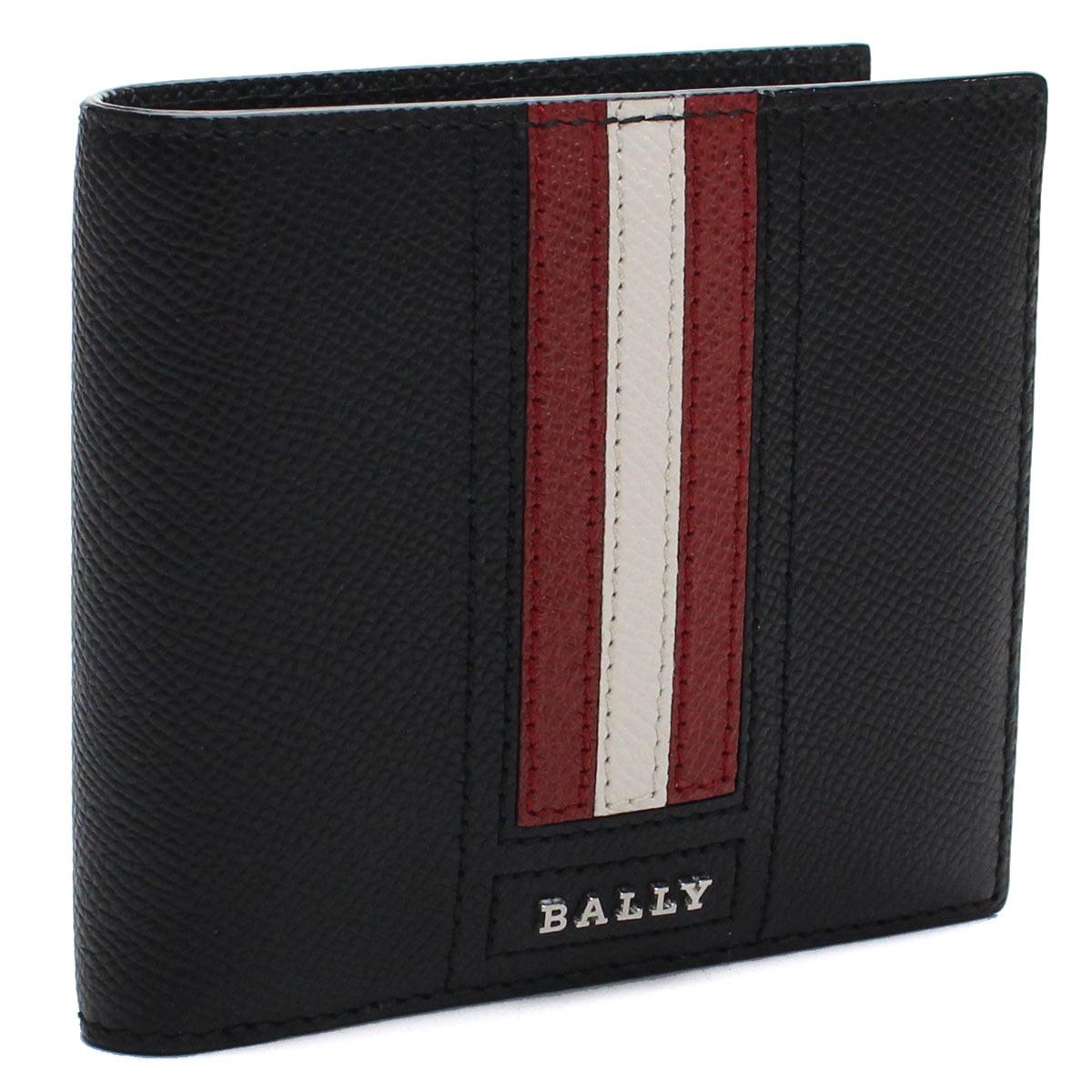 バリー BALLY レザー 2つ折り財布 TEISEL.LT 10 BLACK ブラック メンズ【キャッシュレス 5% 還元】