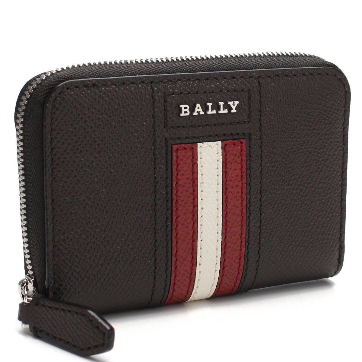 バリー BALLY レザー コインケース 小銭入れ TIVY.LT 21 COFFEE16 ブラウン系 メンズ【キャッシュレス 5% 還元】