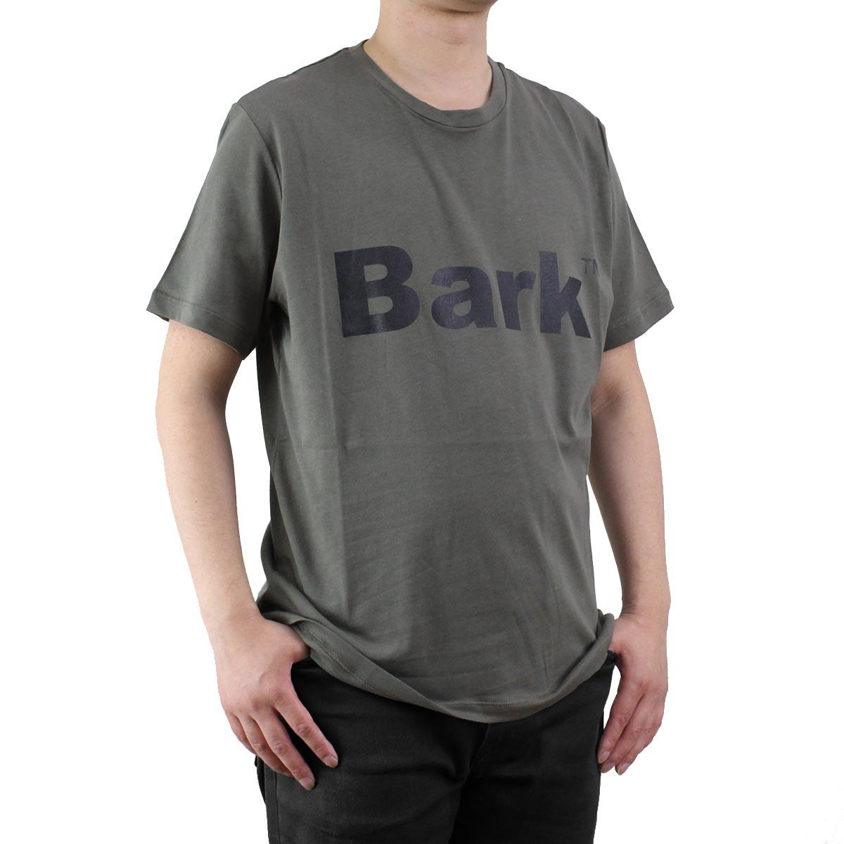 バーク Bark メンズ クルーネック 半袖 ロゴ Tシャツ 71B8715 272 KHAKI メンズ ティーシャツ【キャッシュレス 5% 還元】