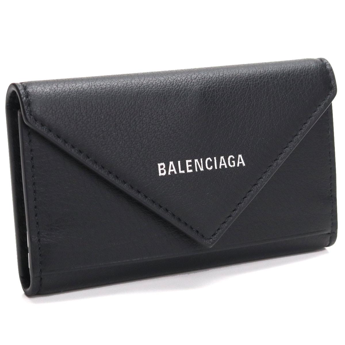 バレンシアガ BALENCIAGA PAPER ペーパー 6連キーケース 499204 DLQ0N 1000 NERO ブラック 【レディース】
