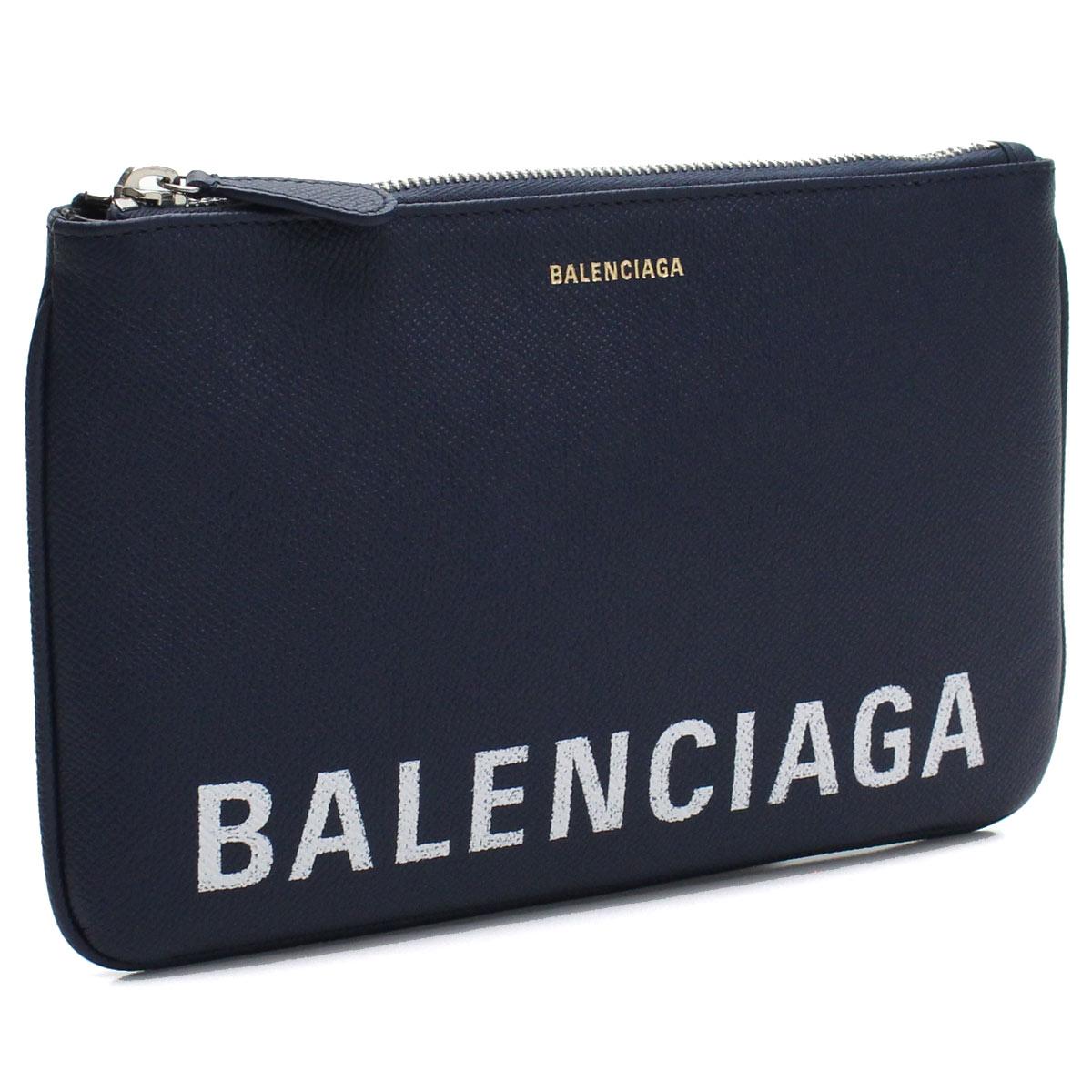 バレンシアガ BALENCIAGA VILLE ヴィル ミディアム クラッチバッグ ポーチ 545773 0OTD3 4323 ブルー系 レディース