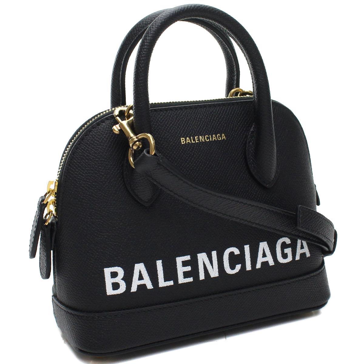 バレンシアガ BALENCIAGA VILLE ヴィル トップハンドル XXS 2way ハンドバッグ 550646 0OTDM 1000 ブラック レディース