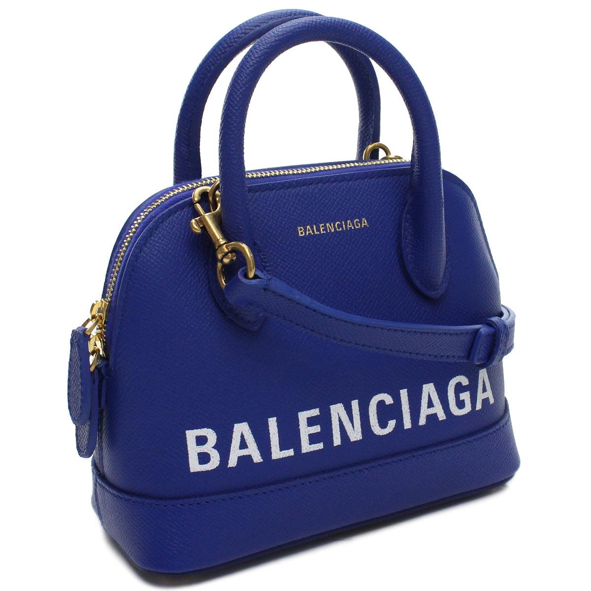 バレンシアガ BALENCIAGA VILLE ヴィル トップハンドル XXS 2way ハンドバッグ 550646 0OTDM 4130 ブルー系 レディース