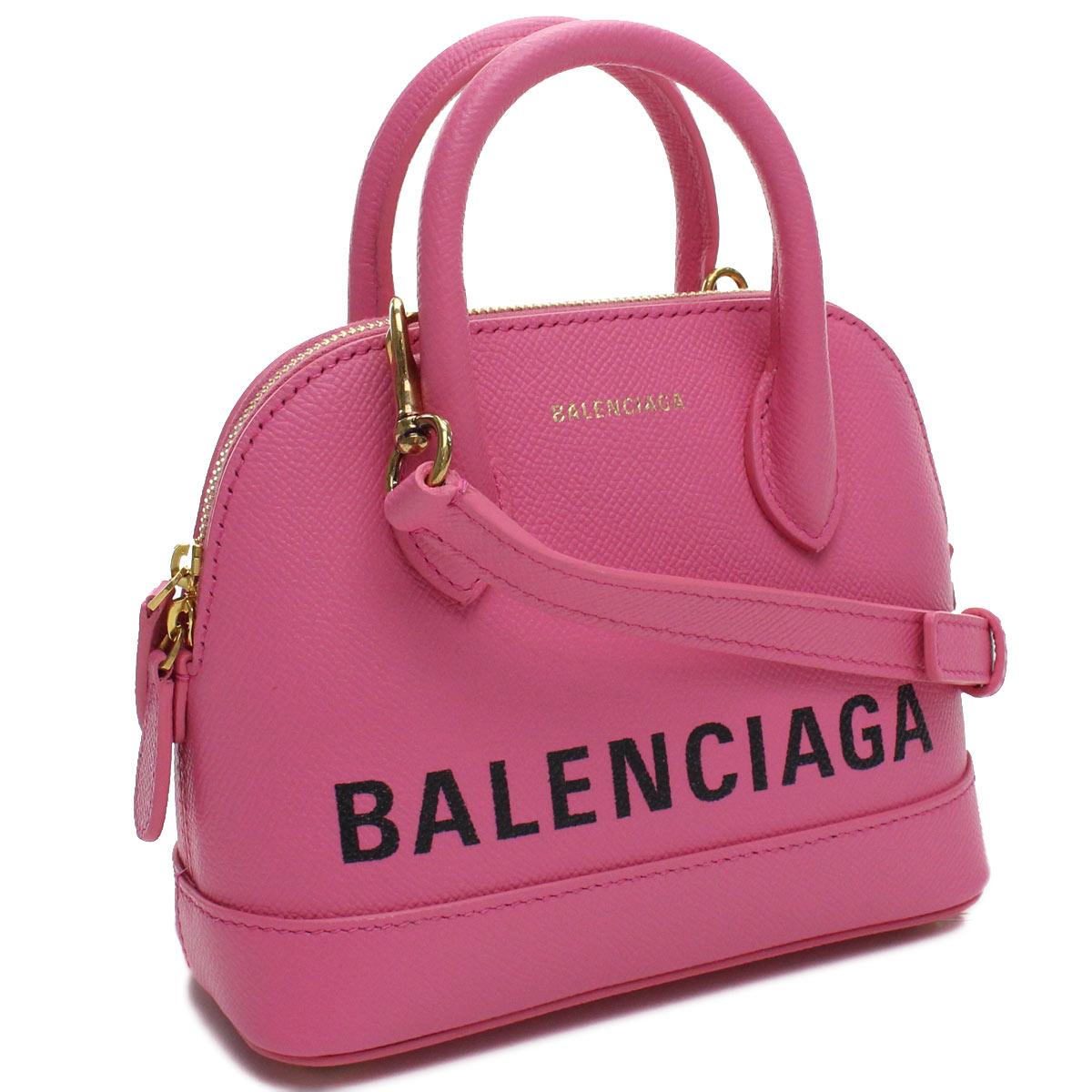 バレンシアガ BALENCIAGA VILLE ヴィル トップハンドル XXS 2way ハンドバッグ 550646 0OTDM 5560 ピンク系 レディース