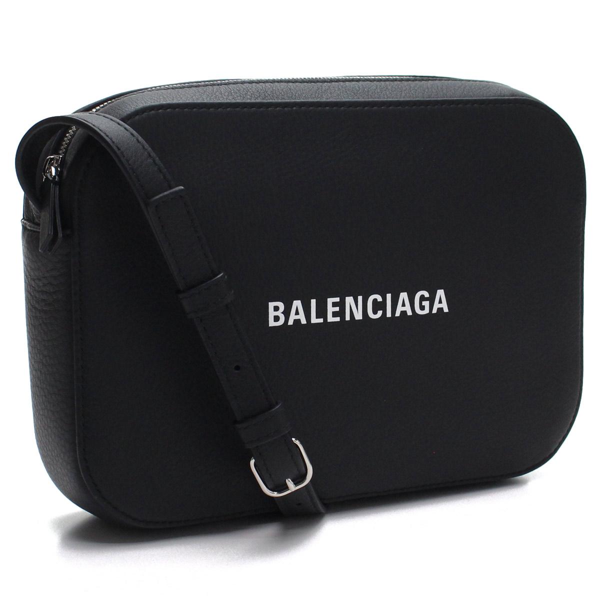 バレンシアガ BALENCIAGA エブリデイ 斜め掛け ショルダーバッグ 552370 D6W2N 1000 NOIR/L BLANC ブラック レディース