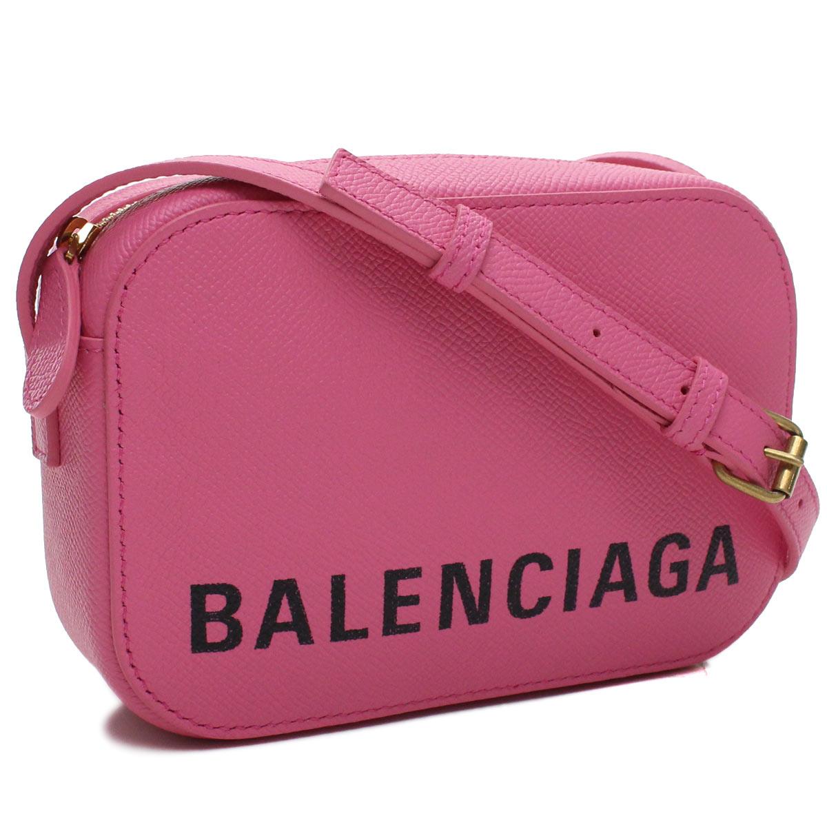 バレンシアガ BALENCIAGA VILLE ヴィル カメラバッグ XS 斜め掛け ショルダーバッグ 558171 0OTDM 5560 ピンク系 レディース
