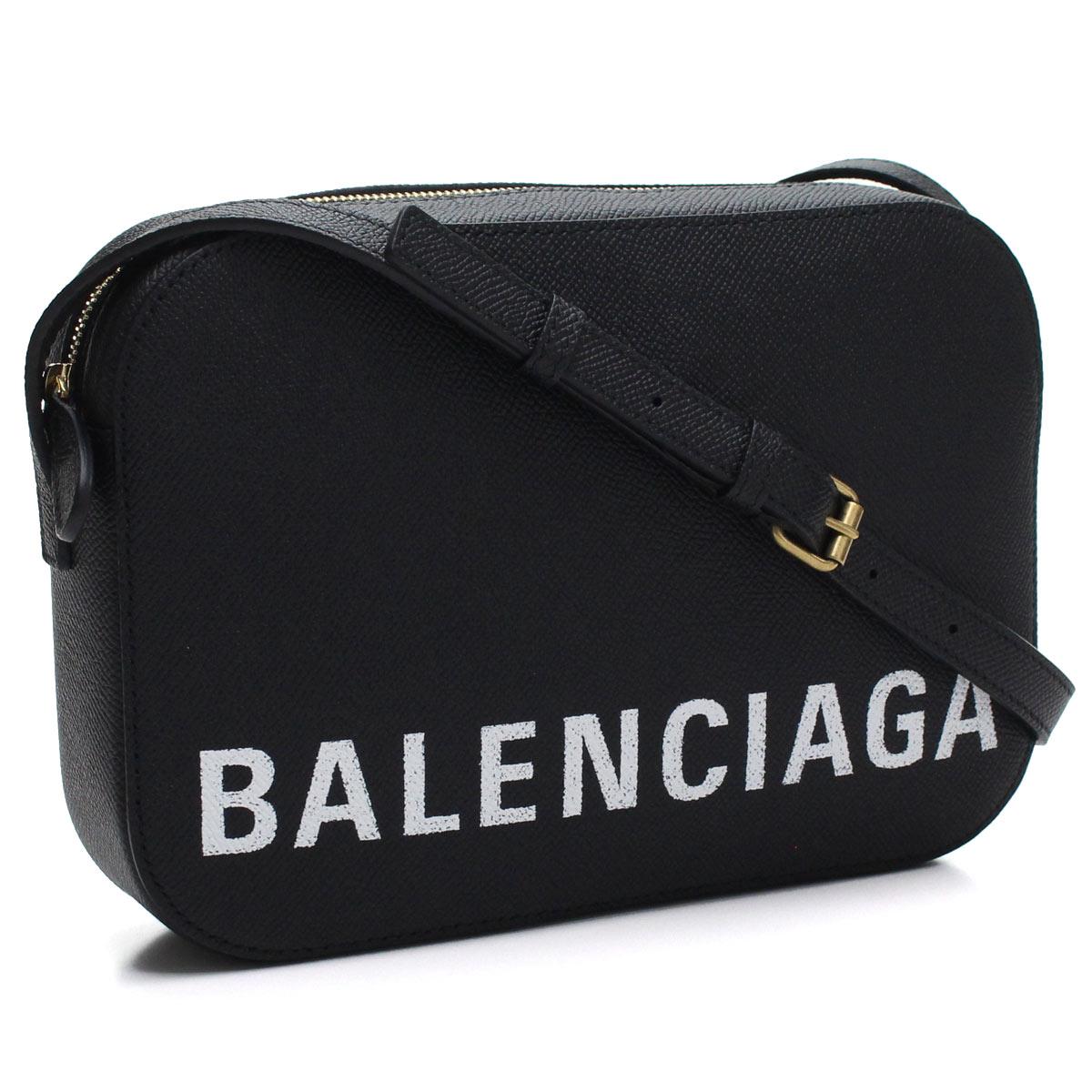 バレンシアガ BALENCIAGA ビル 斜め掛け ショルダーバッグ 558172 0OTDM 1000 NOIR/L BLANC ブラック レディース