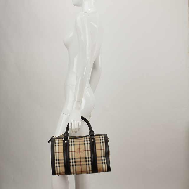 Burberry (BURBERRY) Boston bag 3799299 CHOCOLATE series / brown beige( taxfree/send by EMS/authentic/A brand new item )