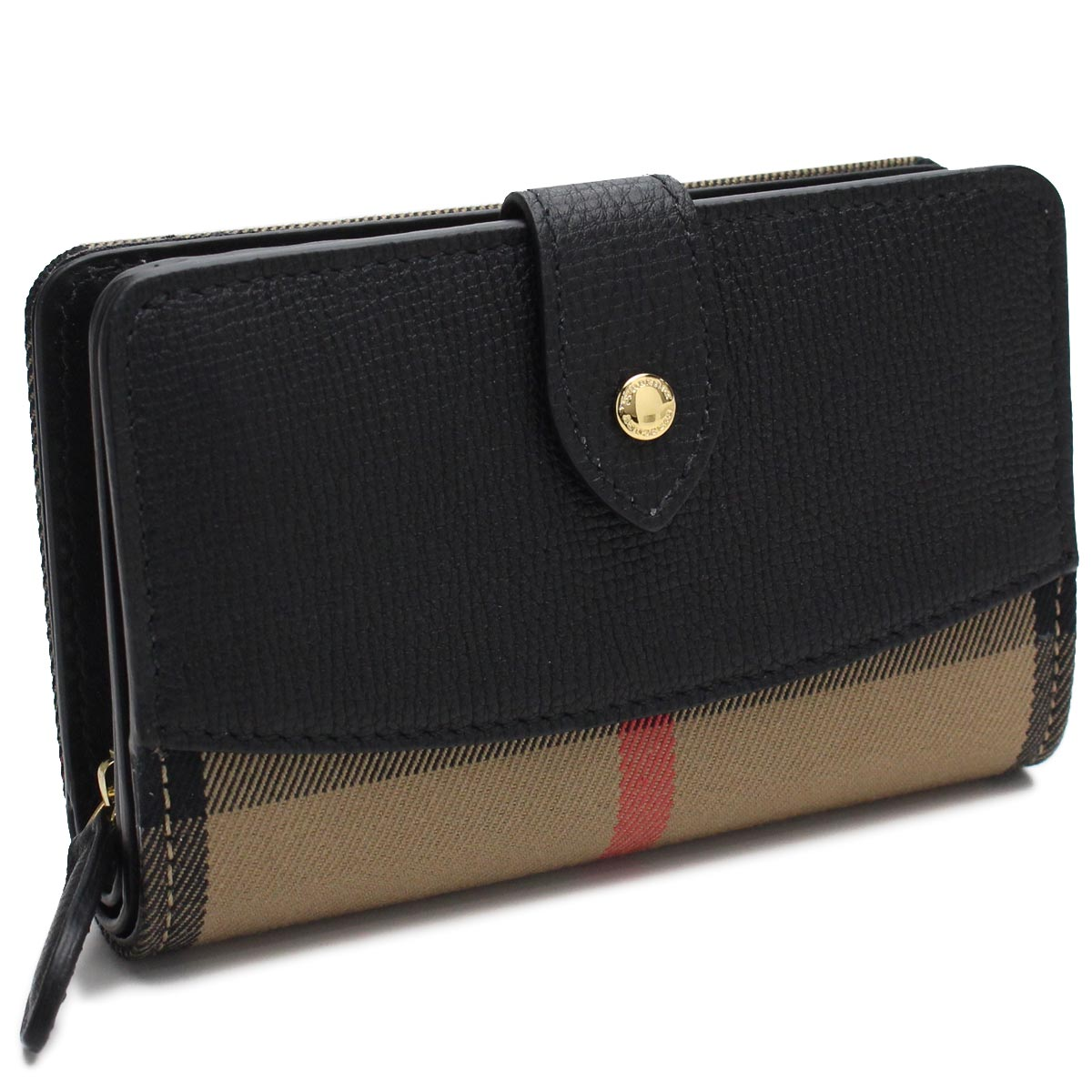 buy popular d7af0 d1f8d 4018881 BLACK black multicolored with the Burberry (BURBERRY) HAMPSTEAD two  fold wallet small change case