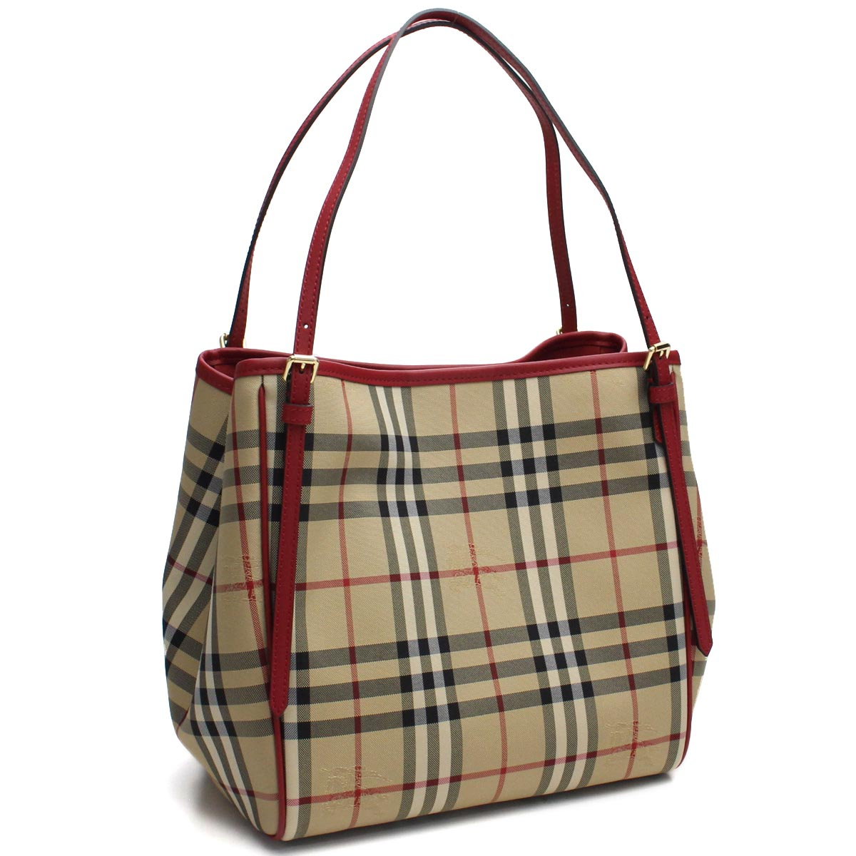 a0d858f2eb70 Bighit The total brand wholesale  Burberry (BURBERRY) SM CANTER Burberry  check tote bag 4028923 HONEY PARADE RED red system